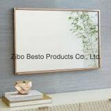 Mejor barato colgando/espejos con bisagras con el marco de madera/de madera en pared del cuarto de baño