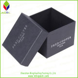 Alta calidad de rayas rígido caja de papel de regalo con la cinta
