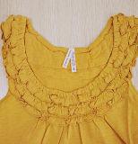 Maglietta allentata breve della maglia delle donne del collare di Falbala