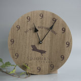 Деревянные часы стены с птицей Лазер-Cutted