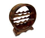 Mobilia di legno del basamento della cremagliera del vino di figura del cerchio del supporto delle 10 bottiglie