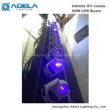 60W LED 무한한 이동하는 맨 위 광속 빛