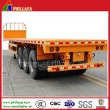 반 40ton-60ton 끝 야드 Highbed 트럭 20-40FT 콘테이너 평상형 트레일러 트레일러
