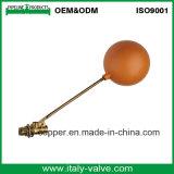 """Válvula de flotador de cobre amarillo de la calidad 3/8 de Customerized """" sin la bola (AV5025)"""