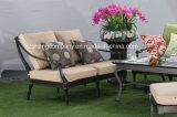 Asiento de amor inoxidable de los muebles del patio de la fundición de aluminio