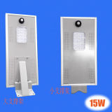15W High Lumen Quality LED Garden Solar Street Light avec induction