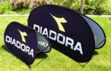 L'événement extérieur d'impression Teindre-Secondaire chaude de la vente 2017 annonçant l'exposition à l'extérieur sautent vers le haut un drapeau de vue avec le stand promotionnel graphique de signe d'étalage de jour de jeu de sports de golf