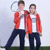 Дешевый износ спортов Tracksuits, Sportswear школы девушок, ткань для Sportswear костюма следа