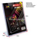 Stand en plastique de carte de Displayer de publicité verticale avec la production de moulage par injection