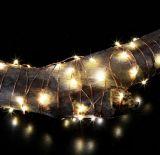 2 indicatore luminoso a pile della stringa del collegare di rame di m. 20 LED per la decorazione della casa del partito