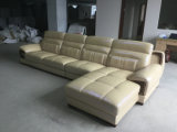 Sofa neuf d'arrivée, sofa juste de cuir de modèle neuf de canton (A843)