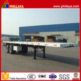 Behälter-Transport-Flachbett-LKW-halb Schlussteil China-20FT 40FT
