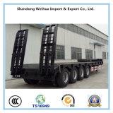 80 do caminhão do reboque de Lowbed toneladas de reboque Semi com os 4 eixos de Fuwa