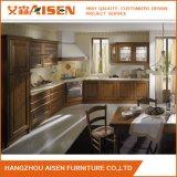 Gabinete de cozinha americano da madeira contínua de projeto simples do estilo do abanador