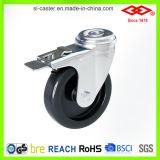 Rueda instrumental plástica negra del echador (P110-30C100X26)