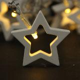Luz de madeira da corda da bateria da estrela da luz do festival da luz da bateria do diodo emissor de luz