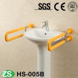 As pessoas com deficiência de qualidade superior usam o trilho de pega de WC tipo U