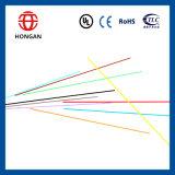 Cable óptico central al aire libre GYXTW de fibra del tubo de 2 bases para la telecomunicación aérea del conducto
