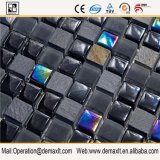 Tegel van het Mozaïek van het Glas van Backsplash van de Kleur van Petterns van de douane de Zwarte voor Muren