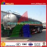 Tri-Eixos Capacidade 35-60cbm Semi-Reboque Asfalto Bitumen Aquecimento Tanque
