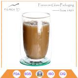 200ml vendem por atacado a caneca de café de vidro de vidro desobstruída do copo de café
