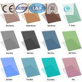 Gris/color azul del lago/vidrio de flotador teñido/claro para el edificio/la decoración