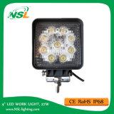 Luz de trabalho LED de alta qualidade e alta luminosidade 27W LED luz de trabalho leve, lâmpada LED, luz offroad, luz LED, LED Spot / Flood Light