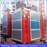 Calidad confiable Sc200 Motoer que levanta el elevador de la lista del alzamiento de los materiales de la construcción de edificios 2ton