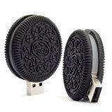 Movimentação personalizada movimentação da pena do alimento dos desenhos animados do flash do USB do PVC dos biscoitos