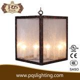 Candelabro de vidro das luzes da caixa 4 da decoração antiga