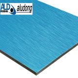 Почищенная щеткой польза панели серии алюминиевая составная для украшения стены