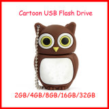 Mecanismo impulsor del flash del USB del buho de memoria Flash del USB Pendrive de la historieta