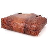 Sac de main de luxe d'épaule de 2017 de mode de Brown Croc d'impression dames de cuir