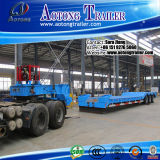 Hydraulic Gooseneck Detachable Low Bed Semi Trailer/ Lowboy Trailer for Sale