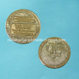 La pièce de monnaie de cadeau de promotion avec de l'or a plaqué