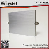 Tri impulsionador móvel poderoso do sinal da faixa 900/1800/2100MHz 20dBm 2g 3G 4G