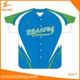 Healong impressão digital leve peso t-shirt de beisebol desgaste