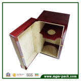 주문을 받아서 만들어진 빨간 높은 광택 있는 Polished 나무로 되는 포도주 상자