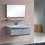 Nuevos muebles montados en la pared del cuarto de baño del acero inoxidable con el espejo