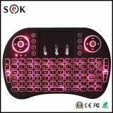2016 neue 3 Luft-Mäusemini drahtlose Tastatur der Farbe Blacklight Tastatur-2.4G FernsteuerungsRii I8 Tastatur für Fernsehapparat-Kasten, PC