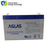 batería de plomo sellada AGM recargable del sistema de seguridad 6V7ah
