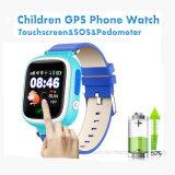 승진 선물 (D15)를 위한 접촉 스크린 1.22inch TFT 아이 GPS 시계 추적자