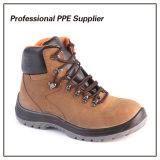 Zapatos de seguridad de acero de cuero de la punta de Nubulk de la alta calidad