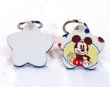 Keyring do Sublimation do MDF da forma da estrela com grampo e aro