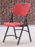 Plástico ao ar livre da mobília da alta qualidade que dobra-se jantando cadeiras