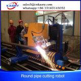 Découpage de pipe de commande numérique par ordinateur de plasma d'axe d'OIN 5 de la CE et machine taillante