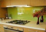 de cristal impresa pantalla de seda de 8m m/coloreado pintura de cristal para la pared casera del fondo de la cocina