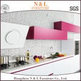Module de cuisine rouge à haute brillance moderne de laque de forces de défense principale de N&L
