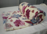 Couverture de Corail Molle Superbe D'ouatine de Textile à la Maison avec L'impression de Fleur