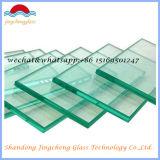 espaço livre de 3-19mm/Tempered liso/curvado ultra desobstruído/vidro temperado com o Ce aprovado